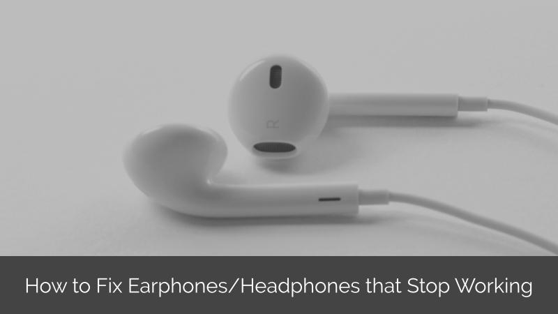 earphones stopped working